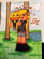 Minecraft another drawing for my friend by xxmidnight12xx