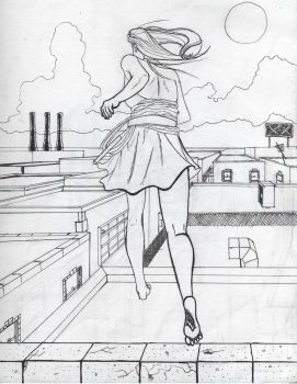 rooftop dancer wip by kittyq