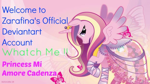 Welcome to my Official Deviantart Account by zarafinita12