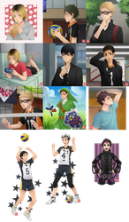 Haikyuu!! - request batch 2 by zero0810