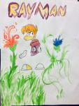 Rayman Watercolor by Perma-Fox
