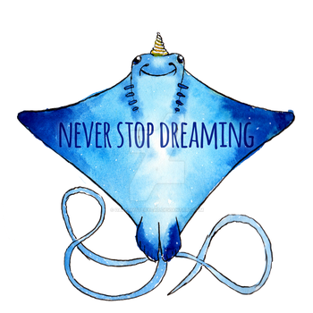 UniRay - Never Stop Dreaming (with text) by DarkMysteryCat
