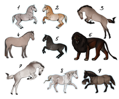 Adoptables leftovers - reduced price or Draw2Adopt by i3nici