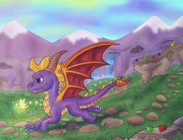 Classic Spyro by TheLeatherDragonI