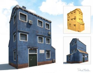 Old Building 185 Low Poly VR / AR / low-poly 3D mo by Cerebrate