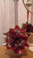 Red and Silver Kusudama by Valley-of-Egeria