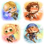 Crystal Bearer chibis 01 by f-wd