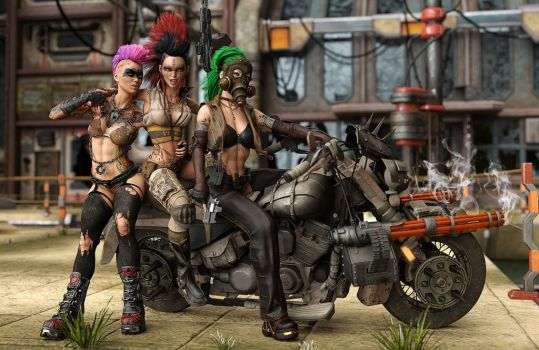 WastelandBikers by ElorOnceDark