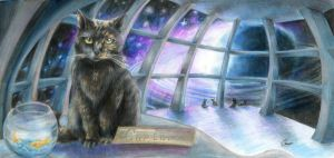Cats in Space by axcelia