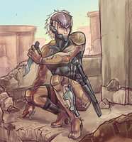 MGS4 Raiden by robotRainbows