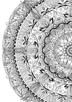 To be a flower  / Partial Mandala Coloring Page by ademaris