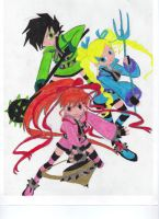 Powerpunks Girls Z colored by Nothingness-Queen