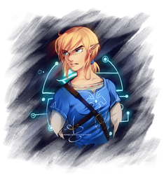 BotW Link by UNIesque