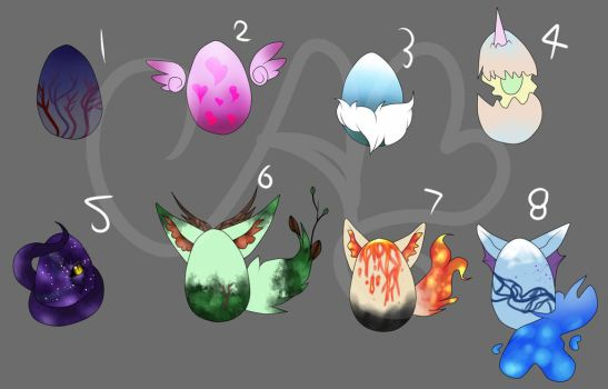 Mystery Egg Adopts (Closed) by Alissa1010