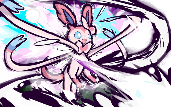 Sylveon | Moonblast by ishmam