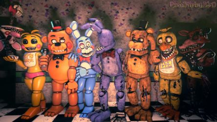 [SFM/FNaF/Gift] Everyone Together by PixelKirby340