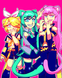 Vocaloid Girls by MetaZephere