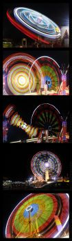 Night Time Fairground by darwin2kx