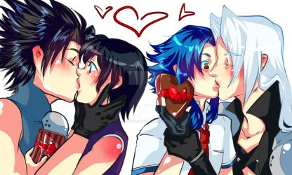 More kisses - Valentine Arts~ by Caim-The-Order