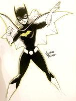 Batgirl sketch commission by LucianoVecchio
