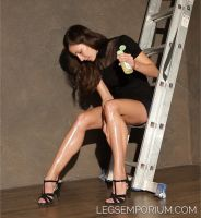 College Sweetheart Lotioned Legs - Julia - LE by LegsEmporium