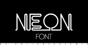 +Font 002: Neon by PottericaLewis