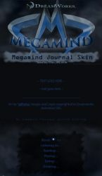 Megamind Journal Skin by JeffrettaLyn