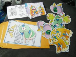 march monster stickers by SolomonMars