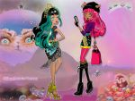Cleo De Nile and Howleen Wolf by Psychedelic-Factory