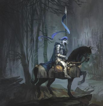 cover of illmade knight by breath-art