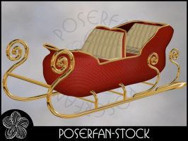 Xmas Sleigh 001 by poserfan-stock
