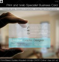 Transparent Print and Web Specialist Business Card by HollowIchigoBanki