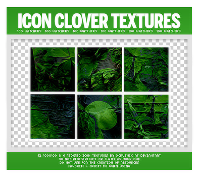 Dark Clover Icon Textures Pack by xcrusnik