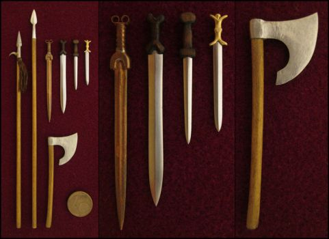 Some Celtic Weapons by AtriellMe