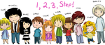 + Chibi lineup + by MADxxasxaHATTER