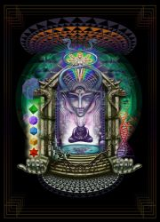 Alien alchemist burner's psychedelic dream temple by Giohorus