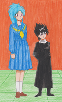 Botan x Hiei by KenKic4Ever
