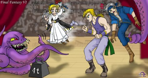 The Stage is Set - FF6 by Merinid-DE