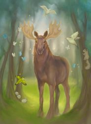 Magical Moose by Sukeile