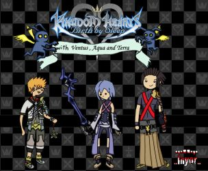 Trio Wallpaper Kingdom Hearts style Adventure Time by Inyor
