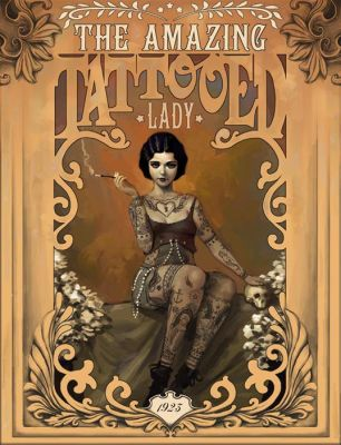 The Amazing Tattooed Lady by Rudeone