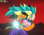 Mystic Brachi charging the Final Kamehameha by RT912