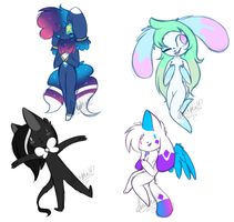 Other OCs Doodles #1 by Pinkdolphin147