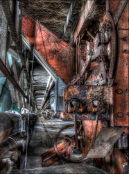 The Rusty Red Machine by wb-skinner