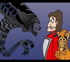 Alien Crossover by Lordwormm