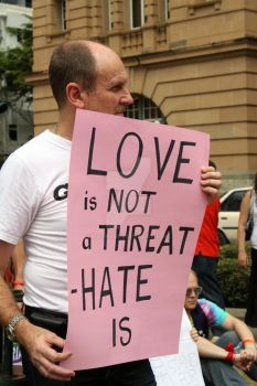 Love is Not a Threat by Fotki