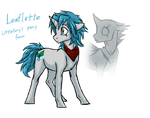 Littlefang's Pony Form by CoffeeAddictedDragon