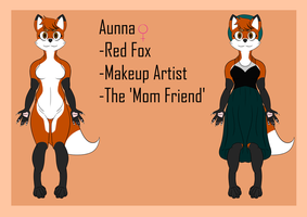 Aunna - Friend's 'Fursona' Ref by P-Paradox