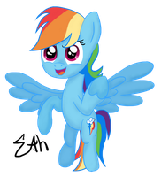 Rainbow Dash Brohoof by Sigmath-Bits