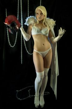 Emma Frost - metal chains fantasy 01 by AcidDaisy